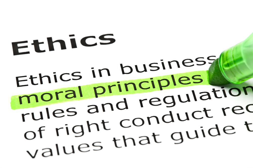 Dictionary definition for ethics