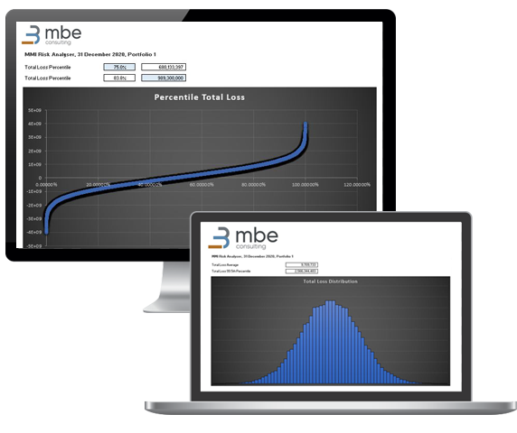 Screenshot of MBE's Risk Analyser for IFRS 17 implementation